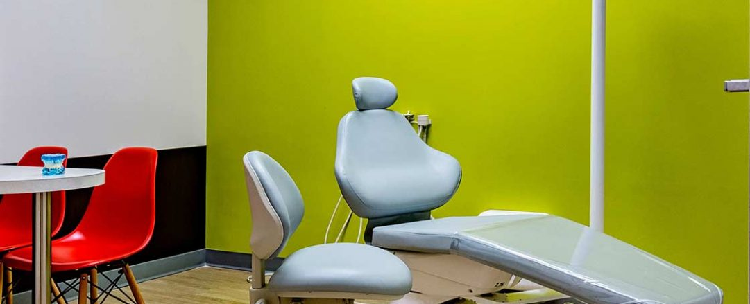 Feel at ease at Braces Braces in Marietta in our comfortable, colorful orthodontic chairs.