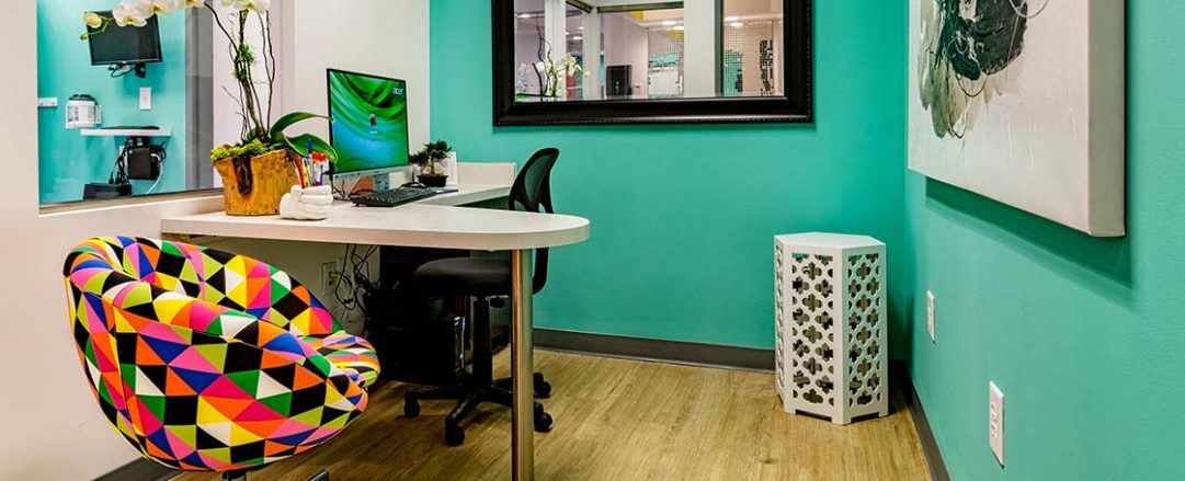 At Braces Braces in Marietta, patients receive free initial consultation in this private consultation office.