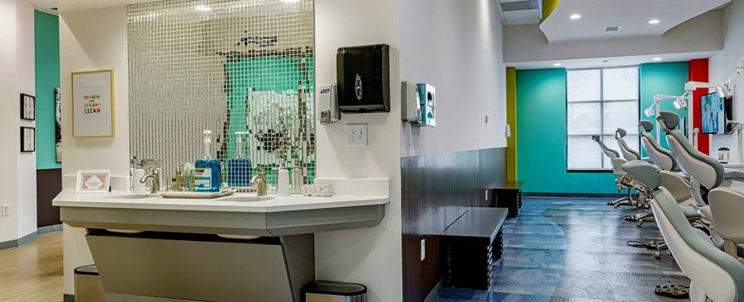 The main interior of top rated orthodontic office Braces Braces in Marietta.