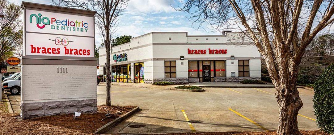 Street view of Braces Braces in Marietta on Johnson Ferry Road.