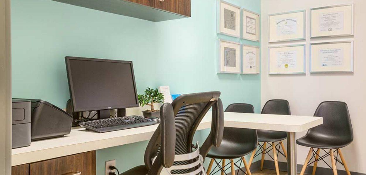 Orthodontic consultation room at Braces Braces in Covington, GA