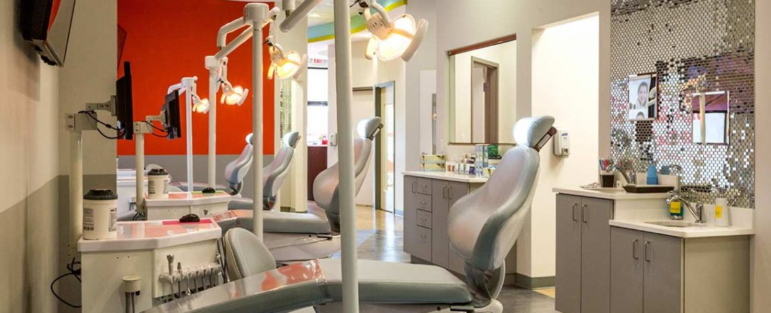 Orthodontist office chairs at Braces Braces in Hiram.