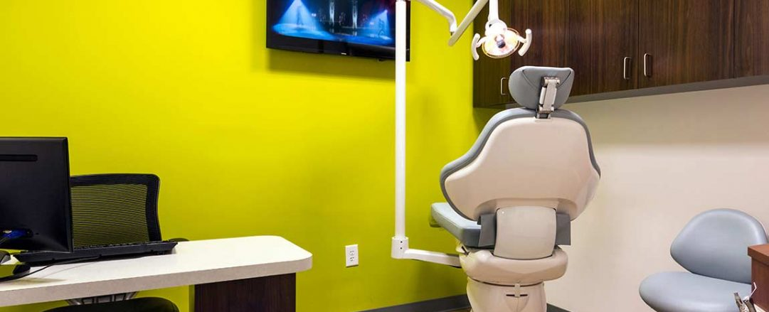 Warm and welcoming orthodontic consultation room at Braces Braces in McDonough.
