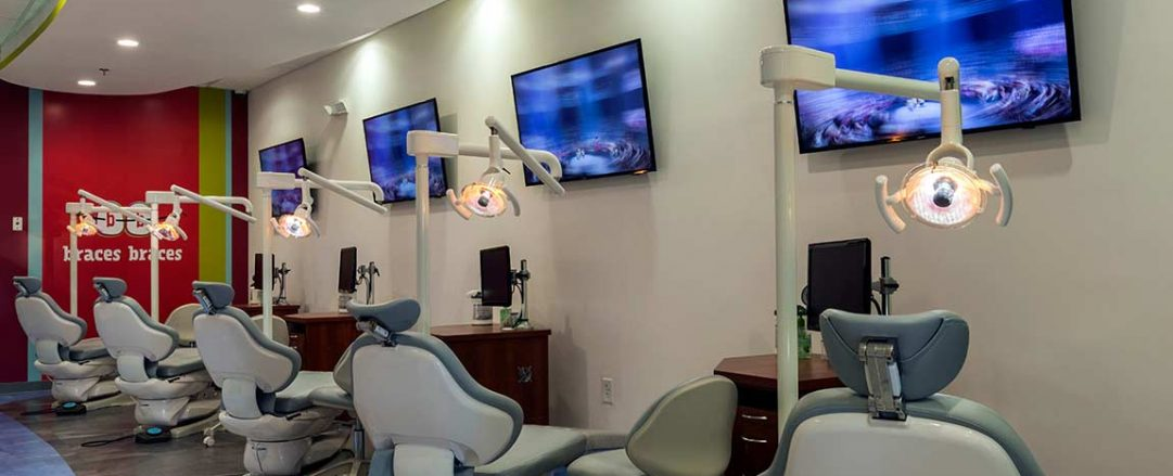 Top rated McDonough orthodontic treatment area with chairs.